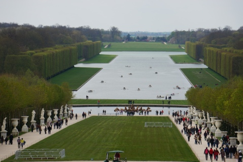 Our Lunch View In The Gardens At Versailles