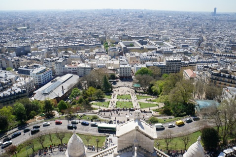 View from Sacre Coeur dome.