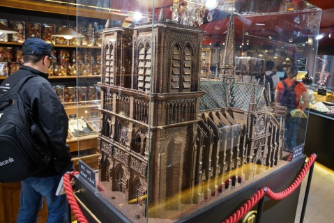 Chocolate Notre Dame in a shop near Sacre Coeur
