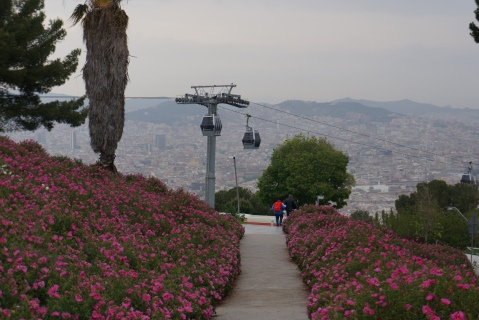 Cable Car to Castle Montjuic