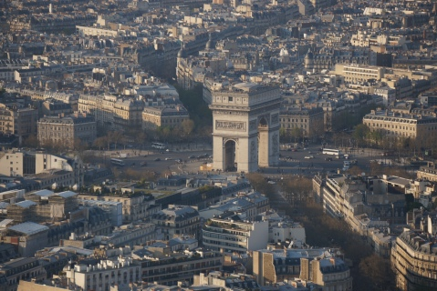 Arc de Triomphe View From Eiffel Towe