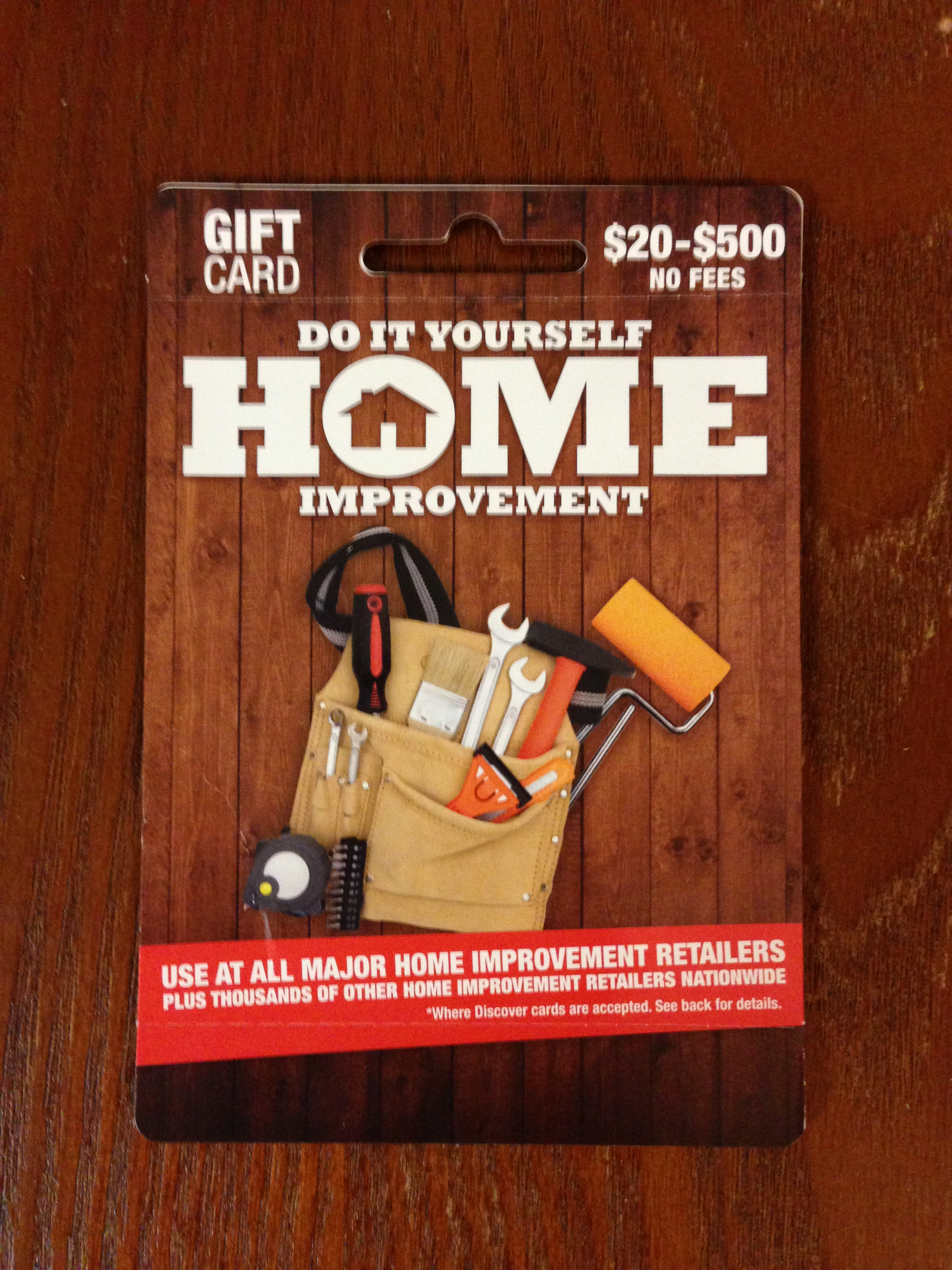 Home Improvement Gift Card Now Allows You To Set A Pin (Free 5X ...