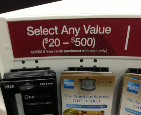 Variable Load Gift Cards at Office Depot