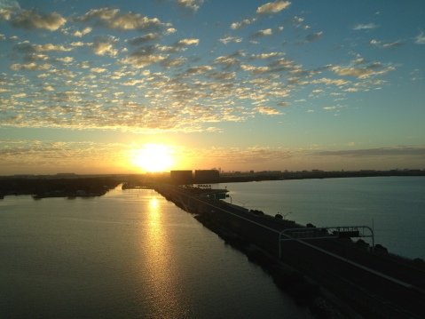Sunrise View - Grand Hyatt Tampa Bay in the distance