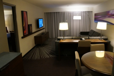 The living area of the suite