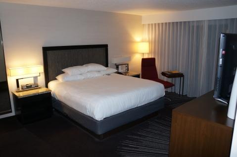 Bedroom area of the suite
