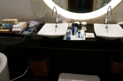 Neatly Organized Toiletries