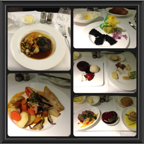 Lufthansa First Class Meal Selections