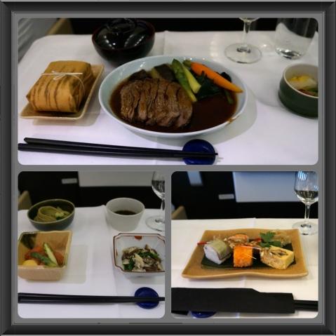 Lufthansa First Class Japanese Meal Frankfurt - Osaka