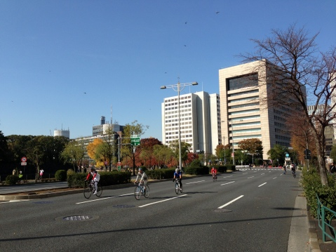 Free Bicycle Riding Near The Imperial Palace