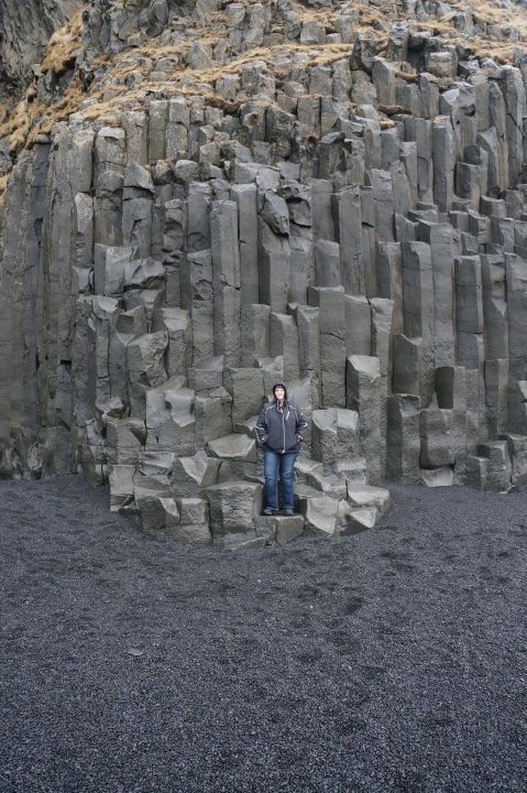 Me on the Basalt Columns for Scale