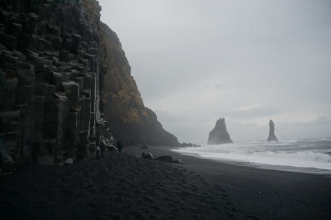Reynisfjara Black Sand Beach and Basalt Columns