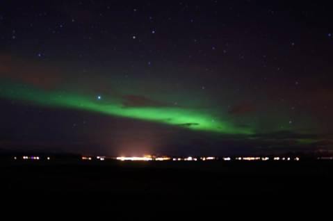 "My first ""real"" Northern Lights Sighting!"
